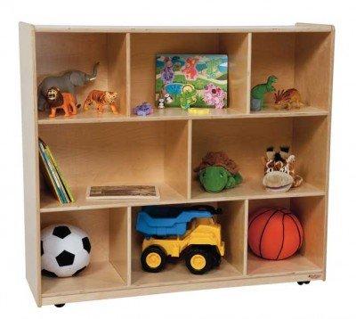 Wood Designs Kids Play Toy Book Plywood Organizer Wd14200 Single Storage, 42''H by Wood Designs