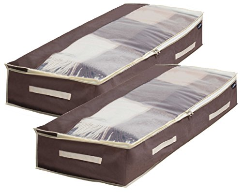 Shoes Under Shoe Organizer Set of 2 (Brown) - 8