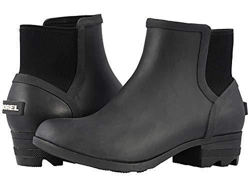 Sorel Womens Janey Chelsea Boot, Matte Black/Sea Salt, Size 7.5