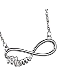 Oidea Women's MOM Stainless Steel Pendant Necklace for Mother's Day, Birthday Gift