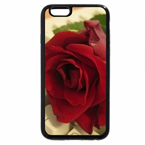 iPhone 6S Case, iPhone 6 Case (Black & White) - red rose for my on line friends