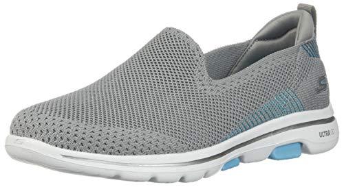 Skechers Women's GO Walk 5 - PRIZED Shoe, Gray/Blue, 5 M US from Skechers
