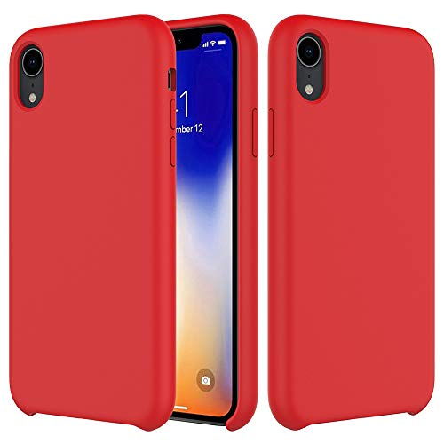 Soft Touch Buttons - iPhone XR Case, Soft Touch, Comfortable Grip, Slim Fit, TIAMAT Liquid Silicone Case with Microfiber Cloth Lining Cushion for Apple iPhone XR - Orange