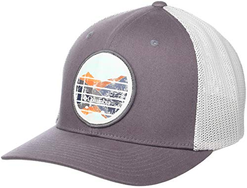 (Columbia Men's Trail Ethos Mesh Hat, Mineshaft, Mountains Patch, Large/X-Large)