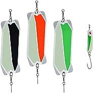 PEETZ Stryke Zone 7-Inch 'Dirty Water' Fishing Dodger 3-Pack + Bonus Spoon Lure   Stainless Steel   Da