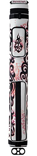 (Athena 2x2 White & Pink ATHC03 Pool Cue Case)