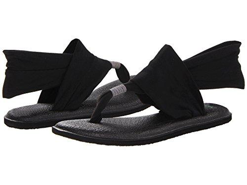 Sanuk Women's Yoga Sling 2 Flip Flop,Black,8 M US by Sanuk