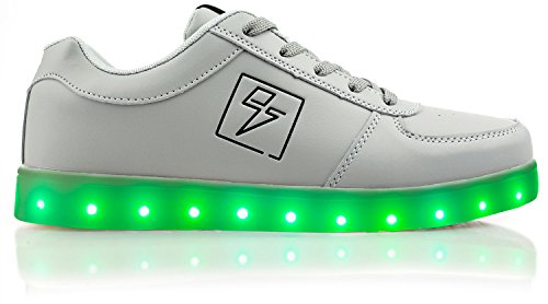Electric Styles Light Up Shoes - Bolt Low Top Grey
