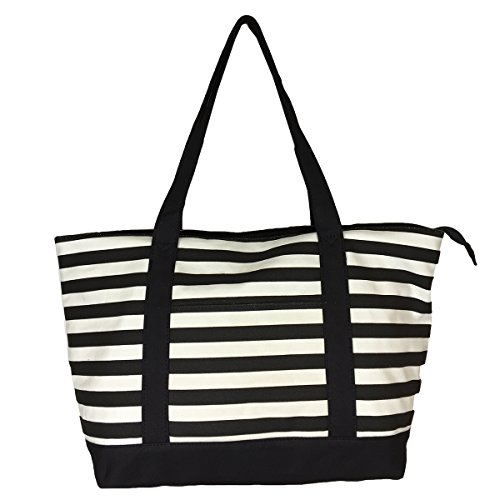 NEW! High Quality Zippered Pattern Prints X-Large Roomy Canvas Tote Bag
