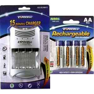 15 Minutes Charger & AA Battery Pack