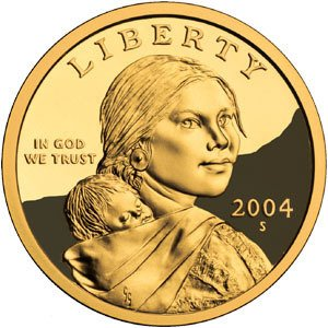 2004 S Sacagawea Golden Dollar $1 Proof