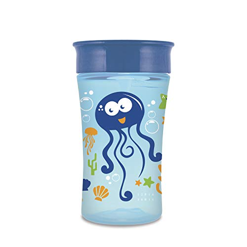 NUK Magic 360 Sippy Cup, Blue, 10oz 1pk, Styles May Vary (Best Sippy Cup For 15 Month Old)