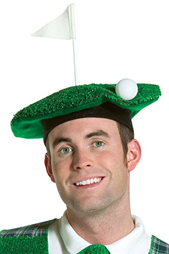 Golf Channel Halloween Costumes (Rasta Imposta Adult Lightweight Hole-In-One Golf Beret Costume (One Size,)