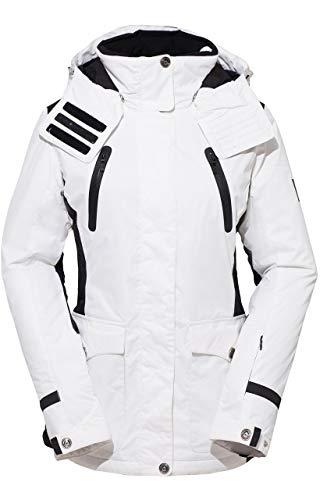- HSW Women Jacket Winter Girl Coat Outdoor Sport Dress Ski Jacket White