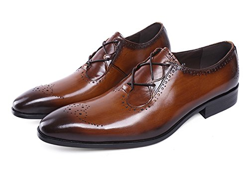 Felix Chu Men's Italian Designer Luxury Perfect Genuine Calf Leather shoes, Brown, 9 D(M) US by Felix Chu (Image #1)