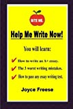 Help Me Write Now!, Joyce Freese, 1304297969