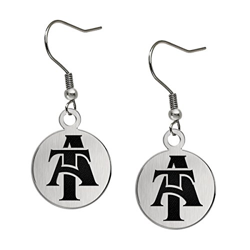 North Carolina A&T Aggies Satin Finish Stainless Steel Disc Earrings