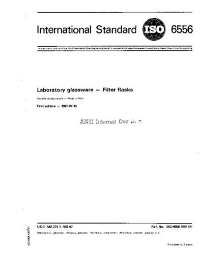Glassware Flasks Laboratory - ISO 6556:1981, Laboratory glassware -- Filter flasks
