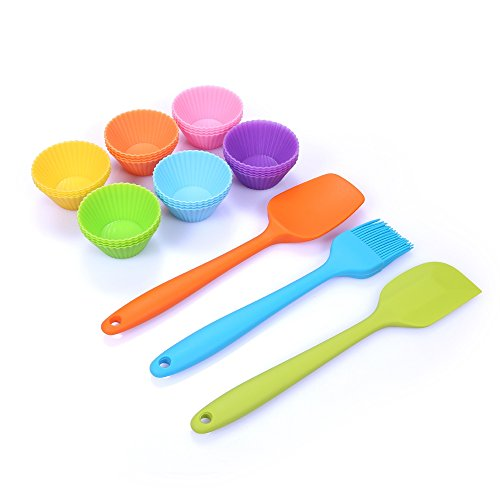 24 Mini Silicone Baking Cups With