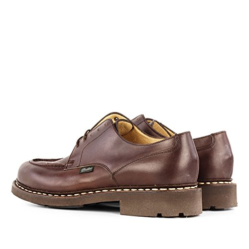 Paraboot Mens 710707 Scarpe Stringate In Pelle Marrone Scuro