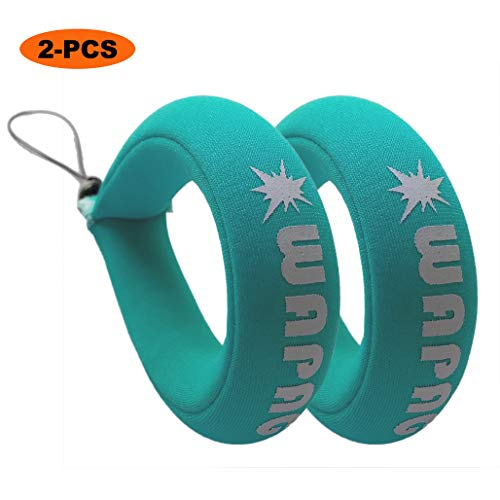 WAPAG Waterproof Camera Float Strap Universal Floating Wristband Buoyancy Belt for GoPro/Panasonic/Nikon COOLPIX/Canon PowerShot/Fujifilm FinePix/Waterproof Bag/Cell Phone - Turquoise