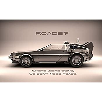 amazoncom back to the future 1 2 3 poster 40 inch x 24