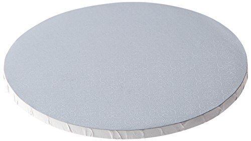 12'' White Round Drum, 1/2'', 6 Count