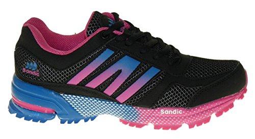 Bootsland Art 821 Neon Sneaker Schuhe Skater Schnürer Boots Neu Damen
