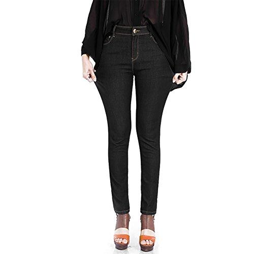 Bleu Jeans Taille Stretch AUSERO Noir Pantalon Haute Femme Slim Skinny 1BFBxgqw