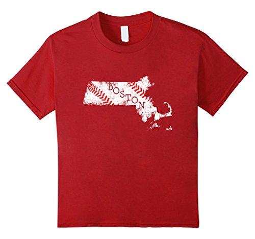 Kids Baseball Shirt Boston Base Ball T-Shirt Novelty Tshirt 10 - Boston Stores In Kids