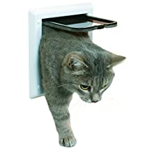 Trixie Pet Products 2-Way Locking Cat Door, White
