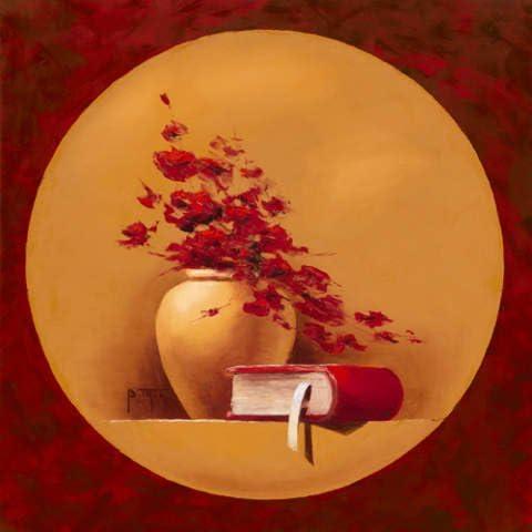 Affiche Bernadette TRIKI Bouquet de fleurs II 30 x 30