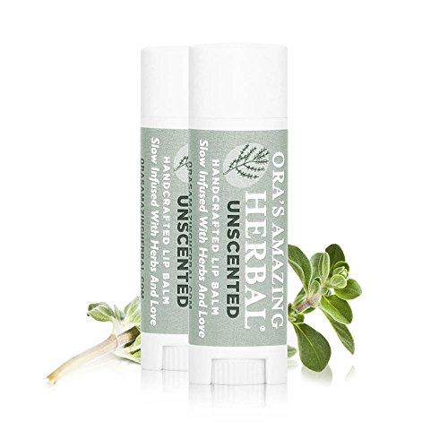 Thérapeutique Intensive Lip Repair traitement Baume 2 pak - inodore, infusé aux herbes, BPA et Paraben Free, sans parfums synthétiques, étonnant à base de plantes de Ora