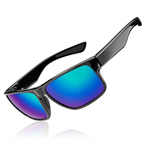 RockBros Sports Polarized Sunglasses Lightweight UV Protection Full Frame Goggles Black - Heads Sunglasses Large For