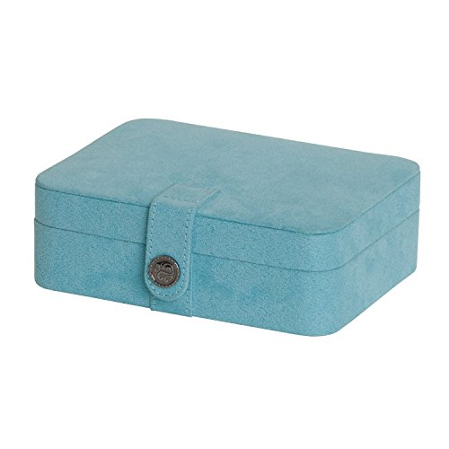 Mele & Co. Giana Plush Fabric Jewelry Box with Lift Out Tray - 7.38W x 2.38H in.