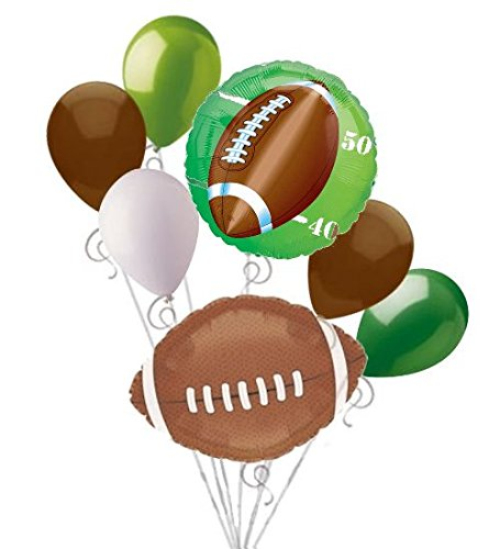 7 pc Football Field Balloon Bouquet Decoration Foot