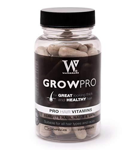 Healthy Hair Vitamins - Watermans GrowPro - Hair growth vitamins with New Stronger Nail Growth Formula