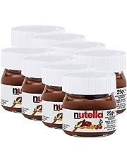 Ferrero Nutella Small Mini Design Glass Set of 8 25 g Bread Spread, Nutmeg Cream, Chocolate Spread