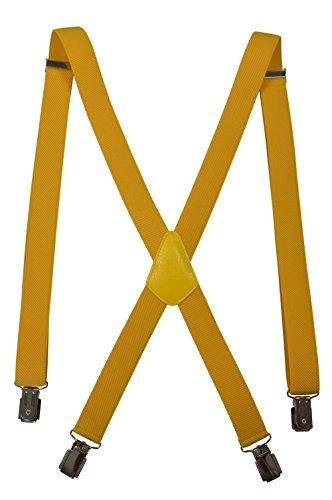 Olata Unisex Skinny Style fully adjustable X-Shape Clip on Braces/Suspenders, 2.5cm