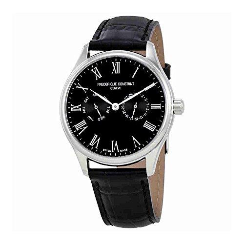 Frederique Constant Mens Classic Black Dial Bracelet Watch FC259WR5B6 by Frederique Constant