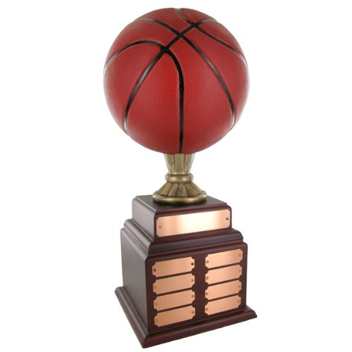 Perpetual Handpainted Basketball Trophy by Awards and Gifts R Us
