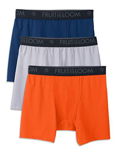 Fruit of the Loom Men's 3-Pack Breathable Lightweight Micromesh Boxer Brief, Micro-Mesh-Assorted, Small ()