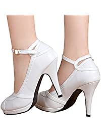 Amazon.com: White - Pumps / Shoes: Clothing, Shoes & Jewelry