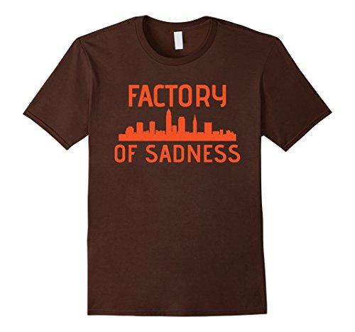 Mens Factory Of Sadness Cleveland Shirt Cleveland Football Shirt XL Brown