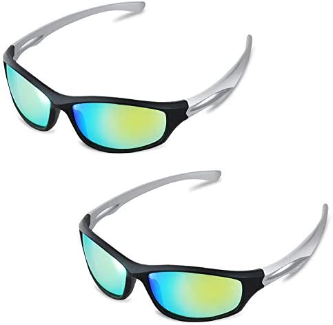 iPower GLGLSSGREENX2 2 Pack Indoor Hydroponics LED Grow Room Light Glasses Goggles Anti UV Reflection Visual Optical Protection UV400 , Green