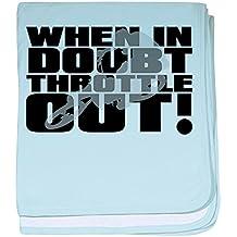 CafePress - When In Doubt Throttle Out Dirt Bike Motocross bab - Baby Blanket, Super Soft Newborn Swaddle