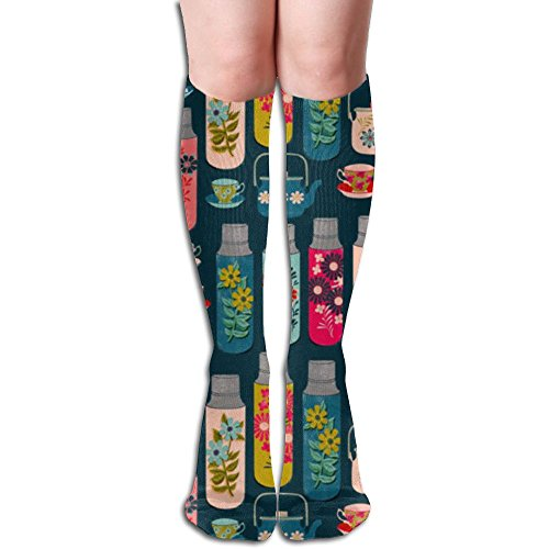Womens Crazy Teapot Knee High Socks Soccer Crew Socks