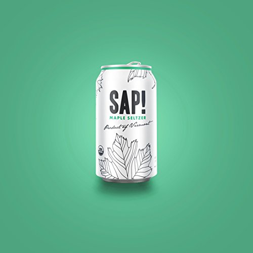 Sap! Maple Seltzer Water – Case of 24 – USDA Organic Gluten Free Non-GMO – Delicious alternative with only 40 calories – low glycemic and contains electrolytes and 46 natural nutrients