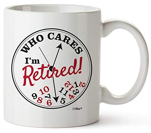 Funny Retirement Gifts for Women Men Dad Mom. Retirement Coffee Mug Gift. Retired Don't Care Clock Mugs for Coworkers Office & Family. Unique Novelty Ideas for Her Nurses Navy Air Force Military Gag