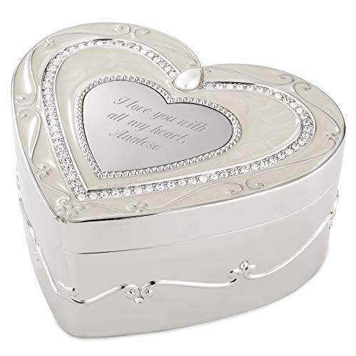 - Things Remembered Personalized Regal Elegance Heart Keepsake Box with Engraving Included